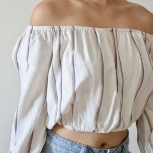 Forever 21 Tops - White off the shoulder top